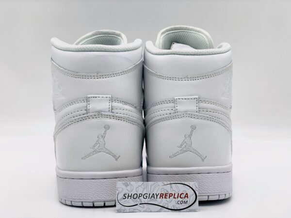 Giày Nike Air Jordan 1 Mid Triple White rep