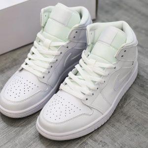 Giày Nike Air Jordan 1 Mid Triple White
