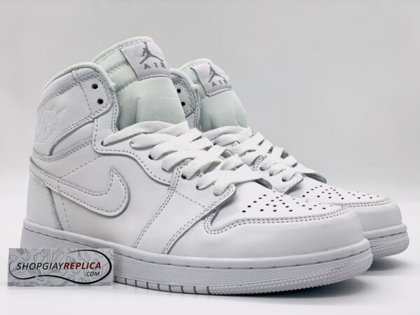 Giày Nike Air Jordan 1 Mid Triple White 1:1