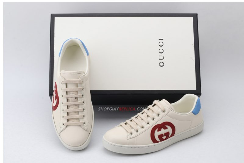 Giày Gucci Ace Interlocking G Red like auth