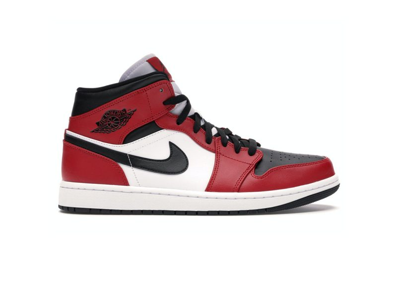 Giày Nike Air Jordan 1 Mid Chicago Toe replica