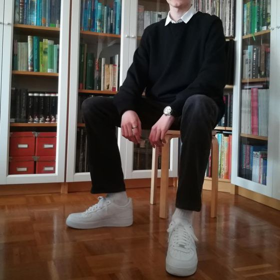 outfit cùng nike air force 1