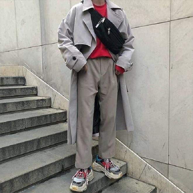 kết hợp quần áo với giày balenciaga triple s