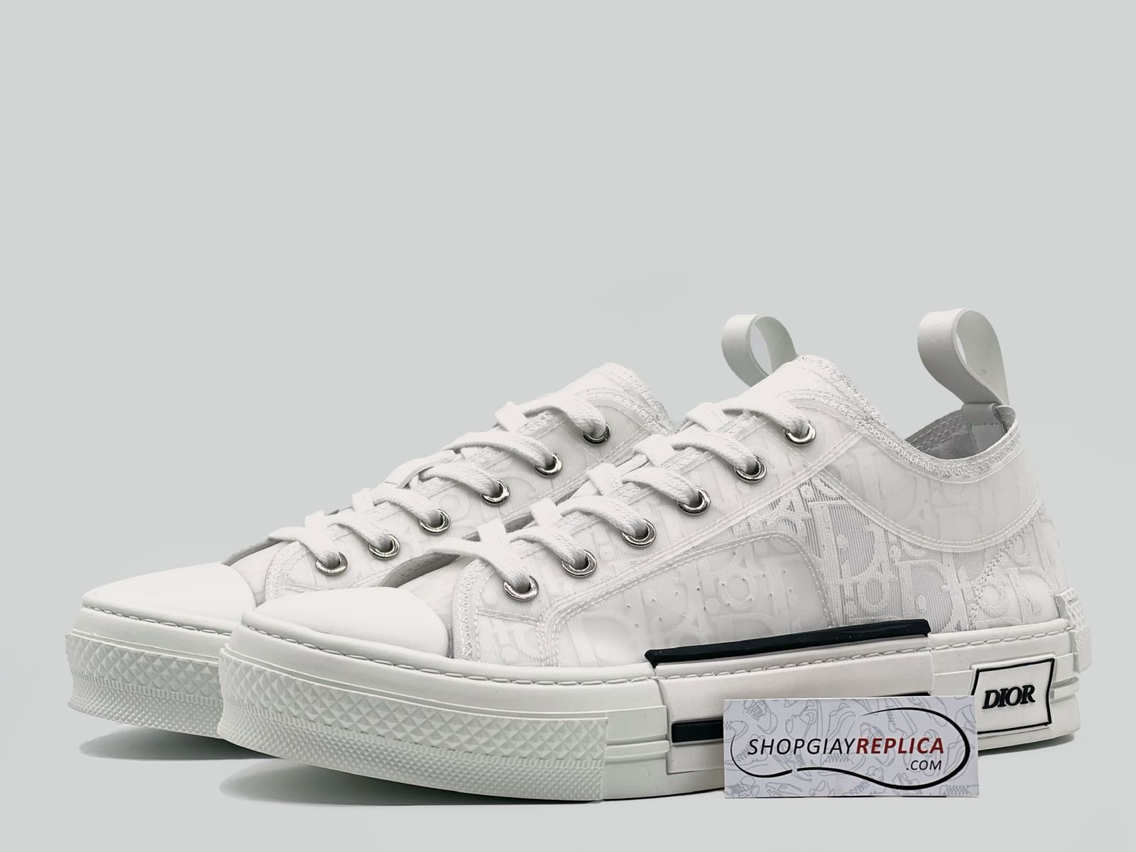 Giày Dior B23 Low Top White Dior Oblique Like Auth