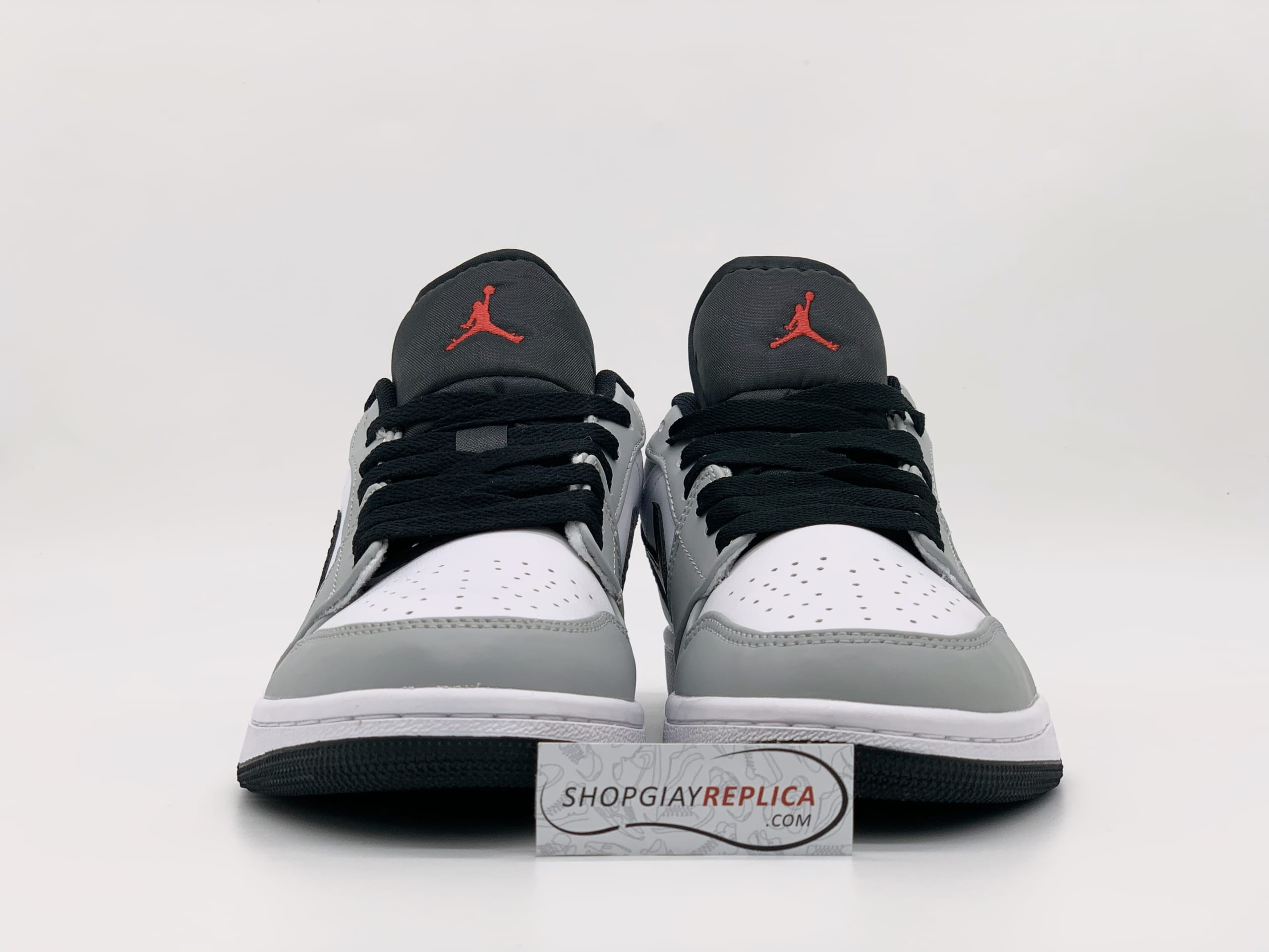 Giày Nike Air Jordan cổ thấp Light Smoke Grey