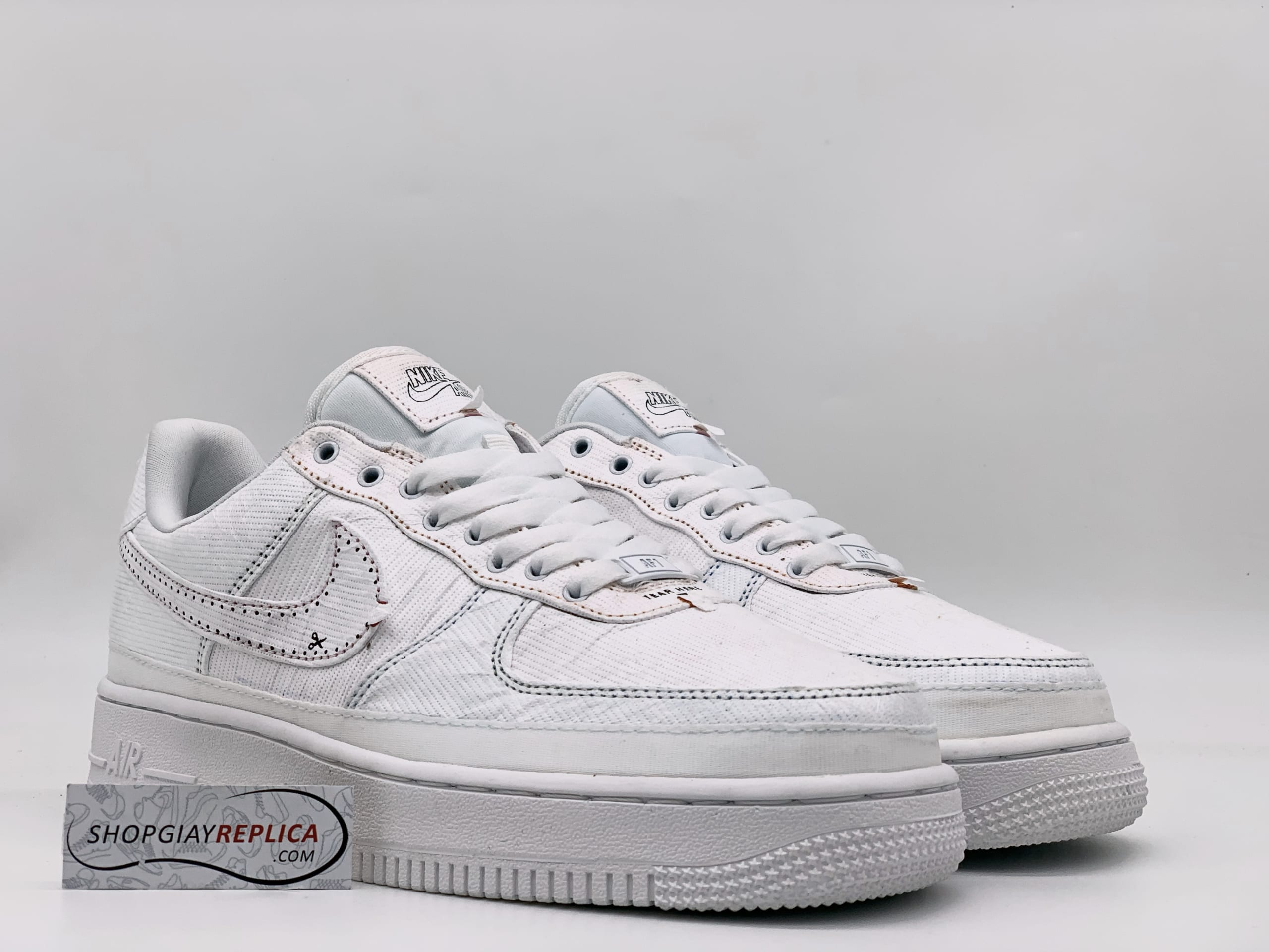 Nike Air Force 1 LX Tear Away Red Swoosh
