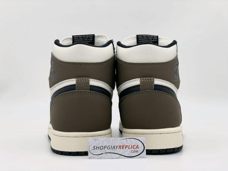 gót giày Nike Air Jordan 1 Retro High Dark Mocha