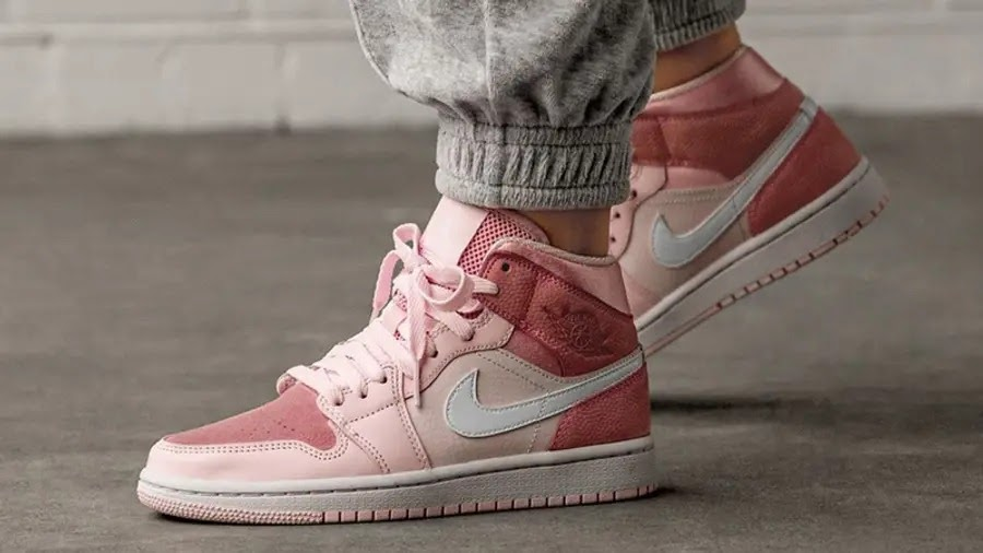 Phối đồ giày nike jordan 1 mid digital Pink