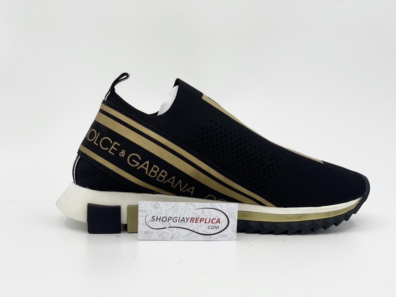 giày dolce gabbana đen vàng