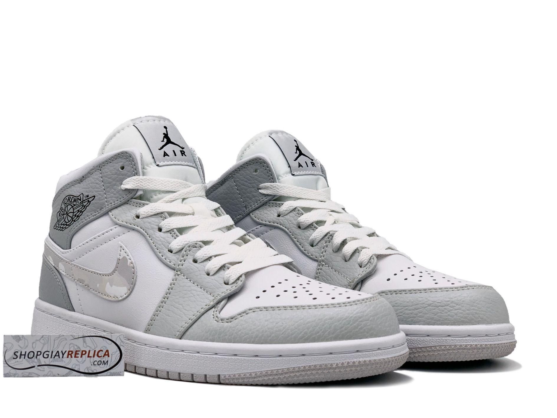 Giay Nike Jordan 1 Mid Camo replica
