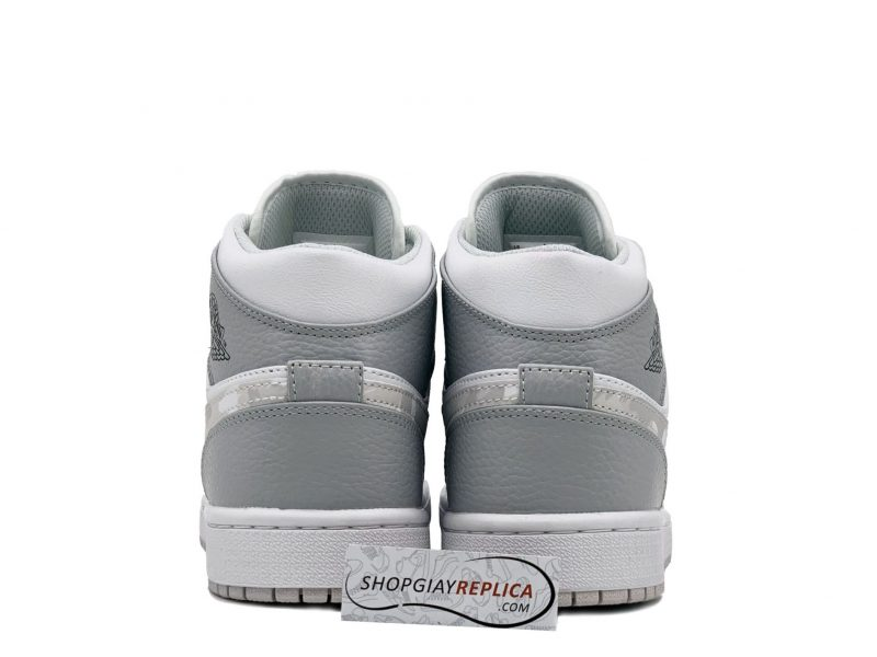 Giay Nike Air Jordan 1 Mid Grey Camo