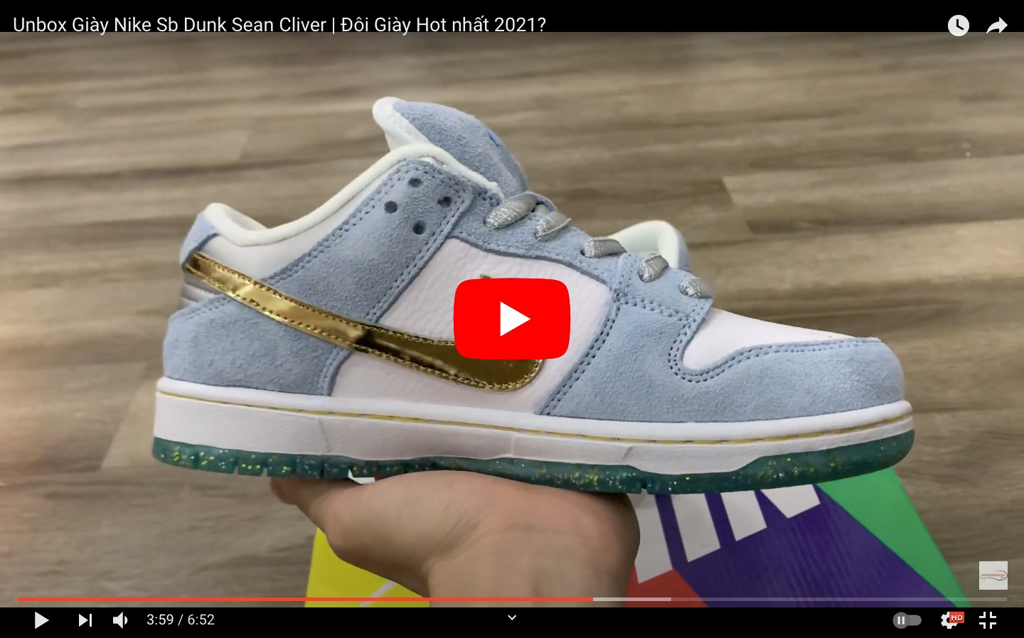 VIDEO NIKE SB DUNK SEAN CLIVER replica