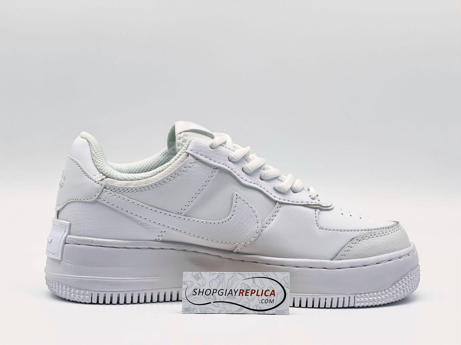 Giày Af1 Shadow Triple White Trắng