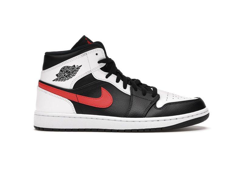 Jordan 1 Mid Black Chile Red White replica