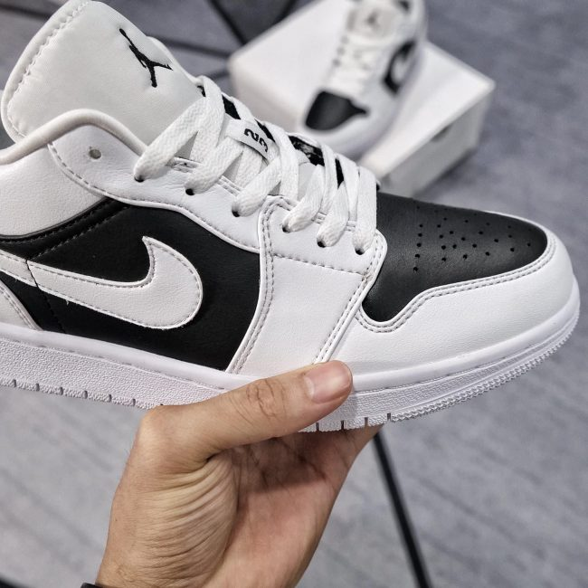 giày air jordan 1 low panda đen trắng