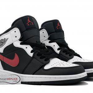 Nike Air Jordan 1 Mid Black Chile Red