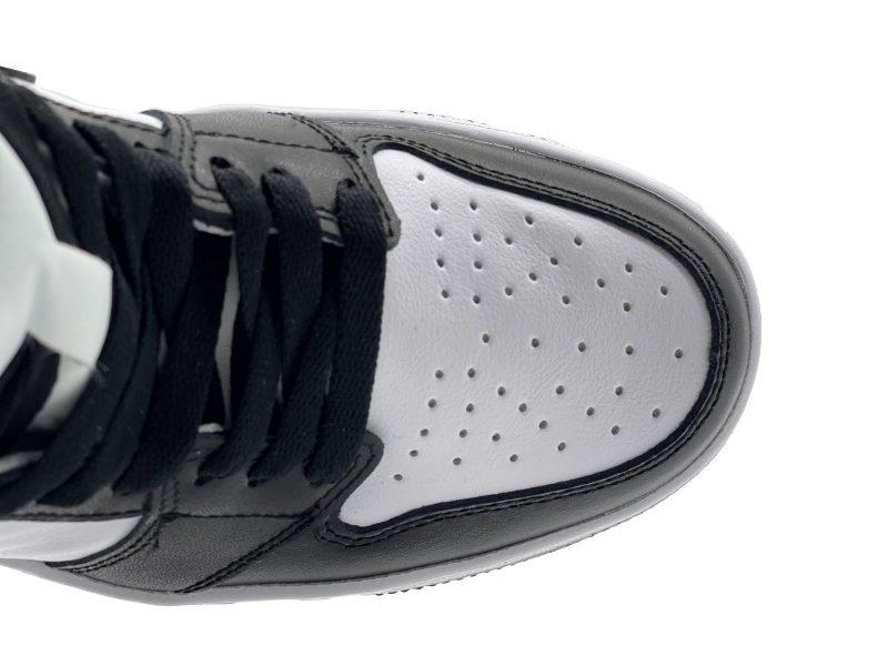 mũi giày nike jordan 1 high black white