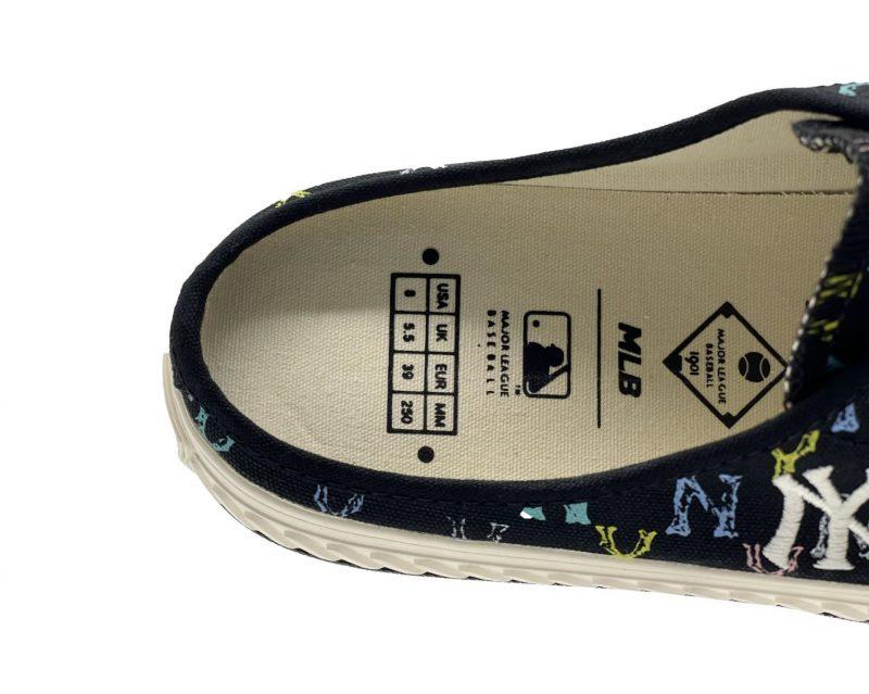 giày đạp gót mlb mule monogram Ny