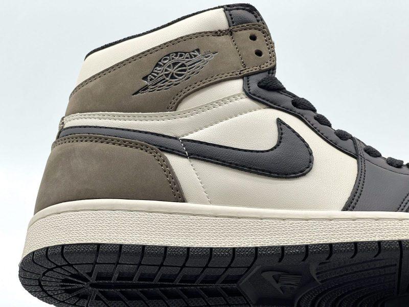 swoosh Nike Air Jordan 1 Retro High Dark Mocha Like Auth