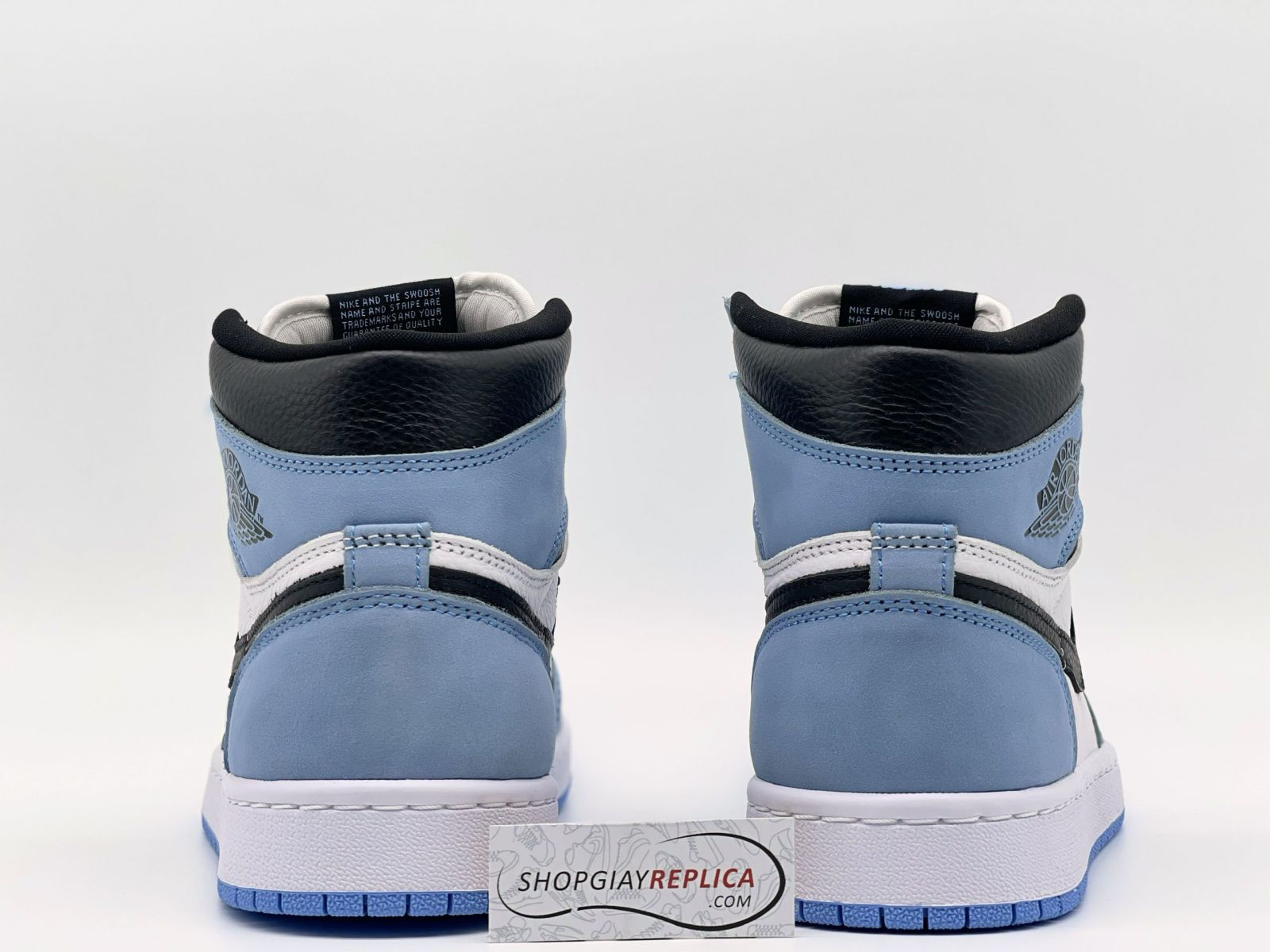 gót giày Jordan 1 Retro High University Blue Like Auth