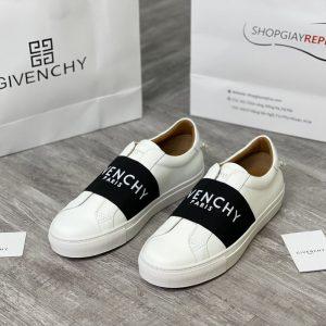 giày givenchy paris strap black white