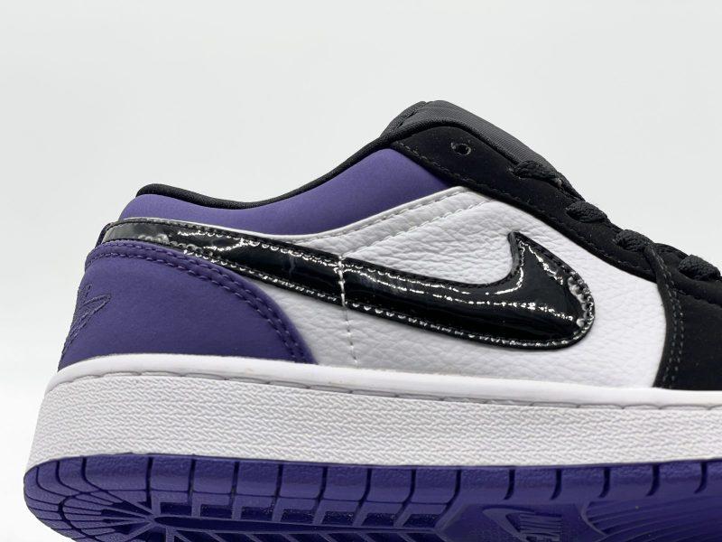 Swoosh Nike Air Jordan 1 Low Court Purple