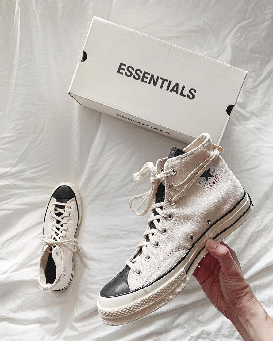 giày converse fear of god white trắng replica