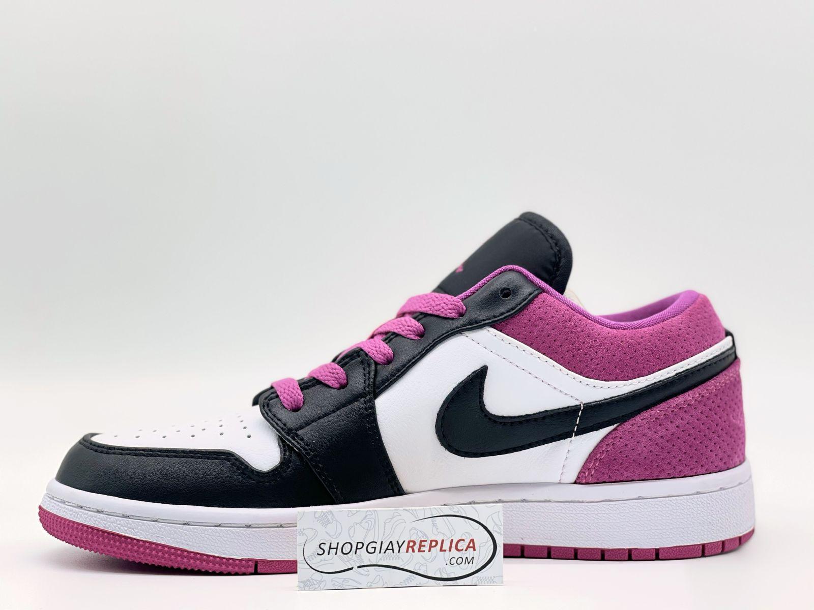 Giày Nike Air Jordan 1 Low Black Active Fuchsia Binz Rep11