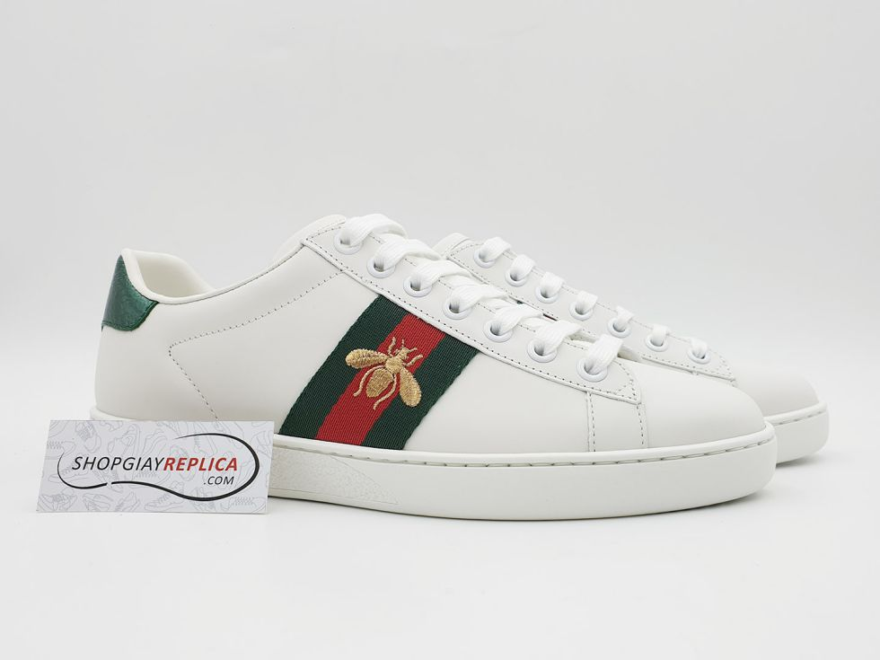 Gucci Ace Bee thêu Ong like auth