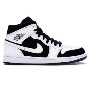 Nike Air Jordan 1 Mid Tuxedo White Black
