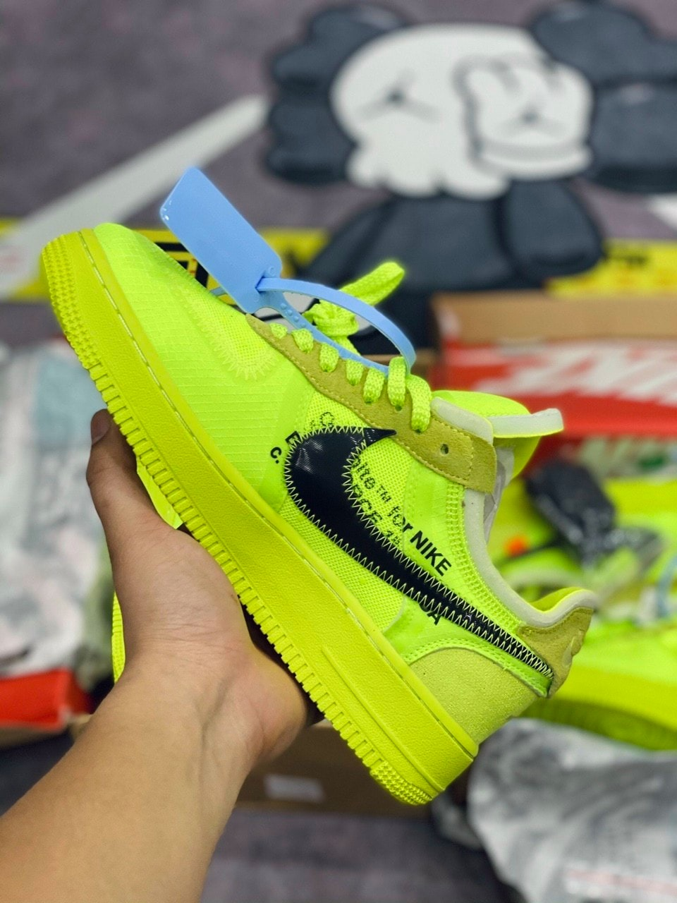 Nike Air Force 1 Low Off White Volt like auth