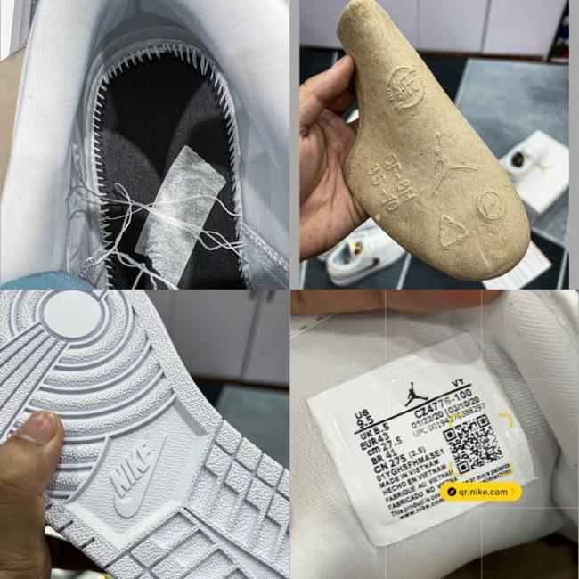 Giày Nike Air Jordan 1 Low Metallic Gold
