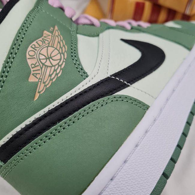 swoosh Nike Air Jordan 1 Mid Dutch Green