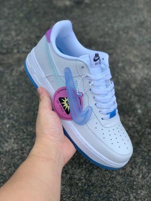 giày Af1 Low UV Reactive Swoosh đổi màu logo rep 11