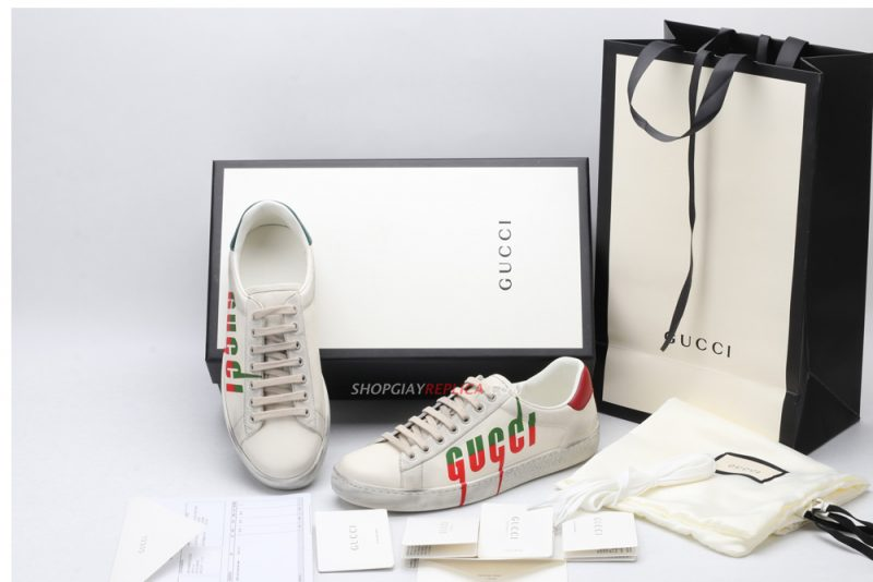 Giày Gucci Ace Sneaker with Gucci Blade Like Auth