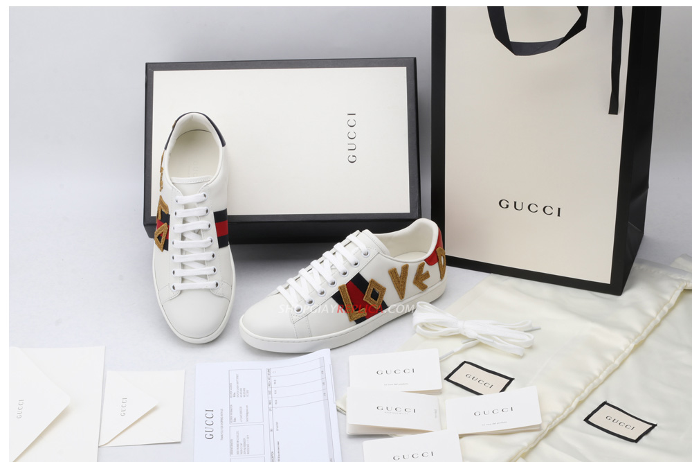 Giày Gucci Ace 'Loved' Like Auth
