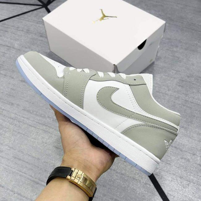 Giày Nike Air Jordan 1 Low Wolf Grey Rep 1:1