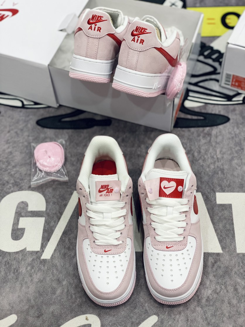 Giày Nike Air Force 1 07 QS Valentine's Day Love Letter rep 1:1